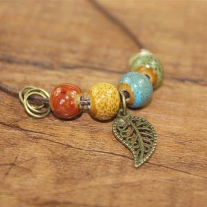 ⚡️2 for $15 Colorful Ceramic Beads Copper Necklace